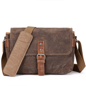 Men's Vintage Briefcase Single Shoulder Bag Crossbody Bag