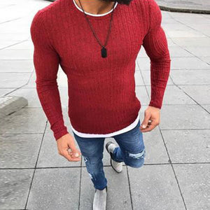 Spring Autumn Men's Stitching Pullover Sweaters
