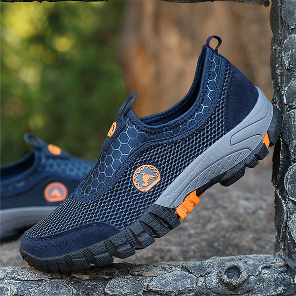 Men Breathable Mesh Slip On Loafers Outdoor Sneakers Climbing Athletic Shoes