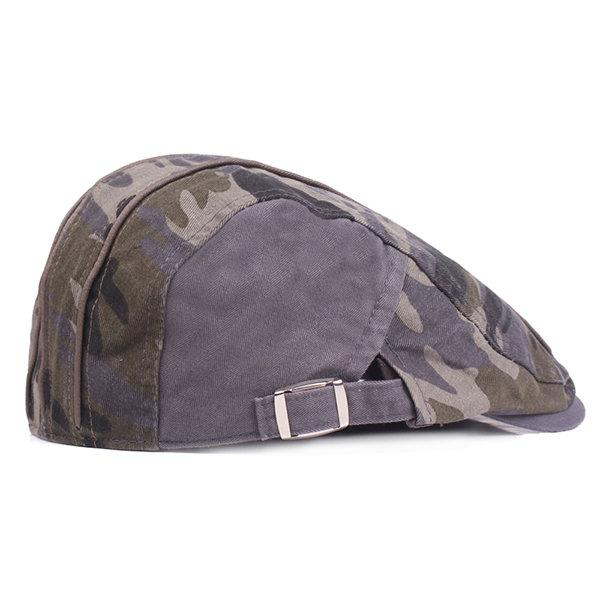 a78d3b77e Camouflage Beret Cap Duck Hat Sunshade Peaked Forward Adjustable Cap