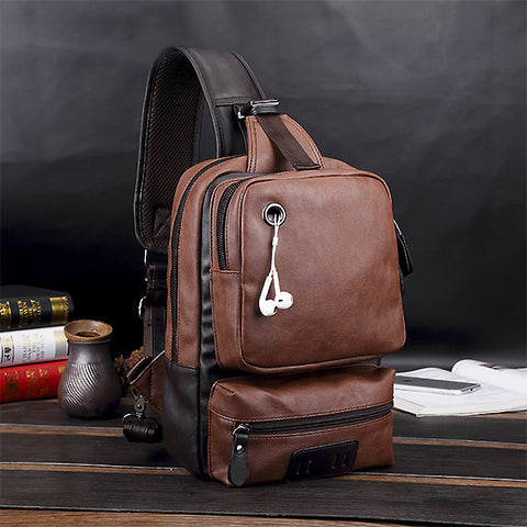 Mens Fashion Chest Bag Casual Crossbody Bag