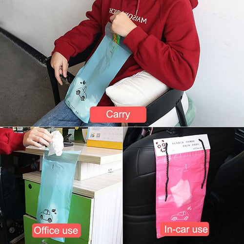 30PCS/Pack Disposable Adhesive Car Waste Bag Storage Bag