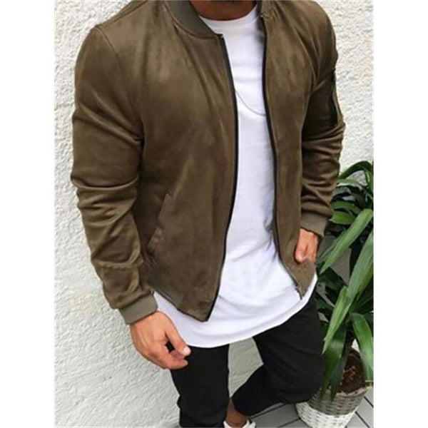 Retro Baseball Collar Jacket Casual Coat