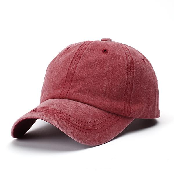 Unisex Fashion Solid Color Washes Old Baseball Hats