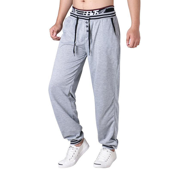 Button Mens Casual Sports Pants