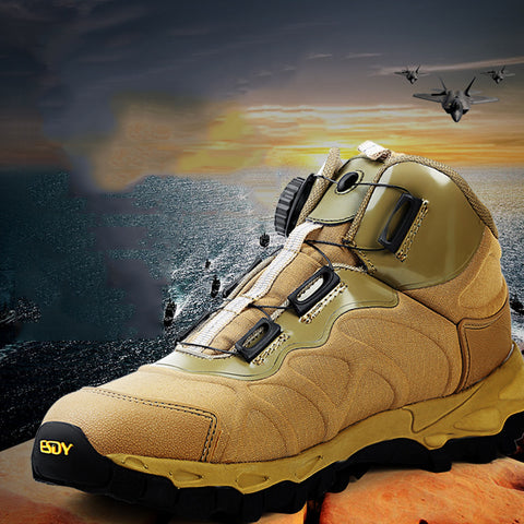 Men Hiking Climbing Tactics Shoes Lace Up Outdoor Sports Flat Shoes