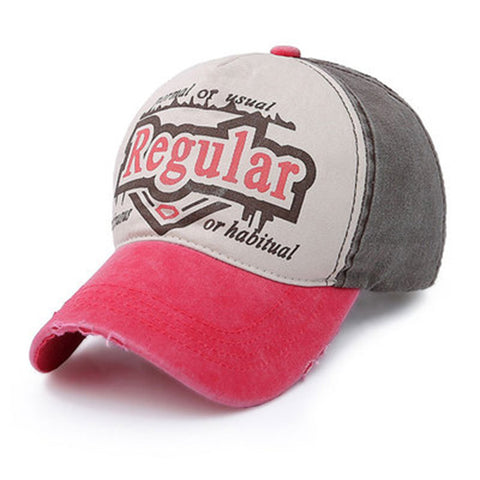 Mens Letter Embroidered Breathable Baseball Cap