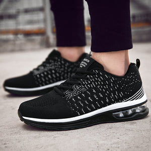 Mens Knitted Fabric Casual Running Sneakers