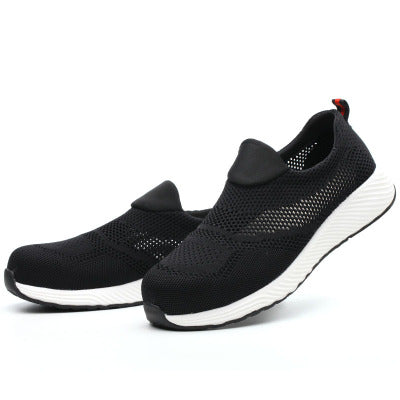 Mens Slip-on Mesh Safety Footwear Round Toe Working Shoes