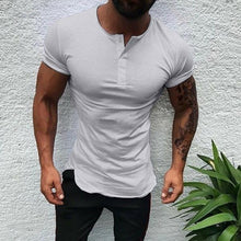 Load image into Gallery viewer, Men's Summer Stand Collar Solid Color Shirt