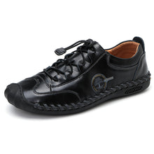 Load image into Gallery viewer, Men Hand Stitching Non Slip Elastic Lace Soft Sole Casual Flats