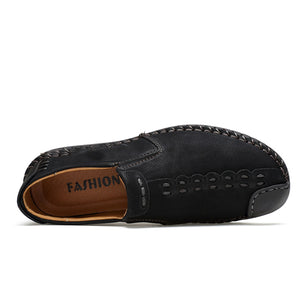 Men Soft Sole Hand Stitching Casual Flats