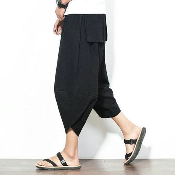 Summer Men Fashion Loose Harem Trousers