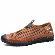 Load image into Gallery viewer, Large Size Men Hand Stitching Mesh Outdoor Soft Slip Resistant Flats