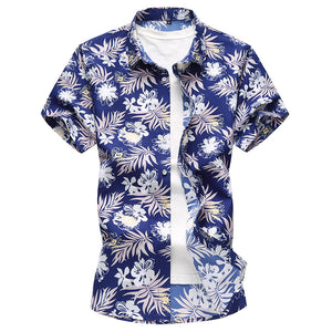 Men's Beach Casual Short-Sleeved Fashion Printed Shirts