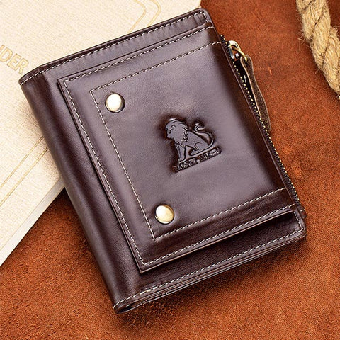 Vintage Zipper Men Wallets Money Bag Credit Card Holders Short Wallets