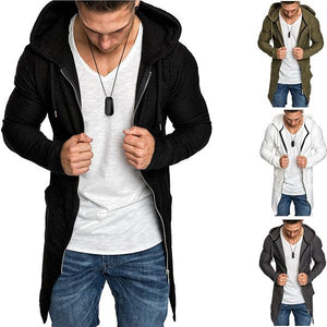 Mens Fashion Mid-Length Zipper Hoodies
