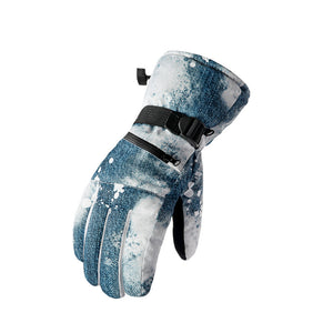 Touch Screen  Outdoor Water Proof Skiing Plush Warm Gloves