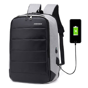Casual Large Capacity USB Charging Port Laptop Backpack