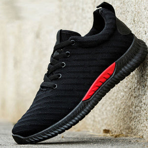Mens Fashion Breathable Athletic Shoes Lace-up Running  Shoes
