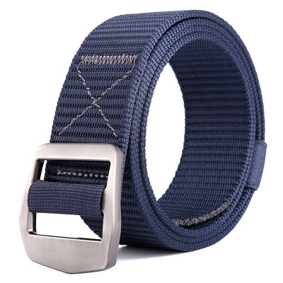 Mens Fashion Nylon Alloy Buckle Belt