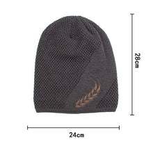 Load image into Gallery viewer, Men's Winter Warm Knitting Hat Wheat Ears Pattern Hip Hop Skullies Beanie