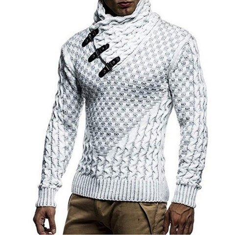 Men's Fall Winter Pullover Turtleneck Slim Sweaters