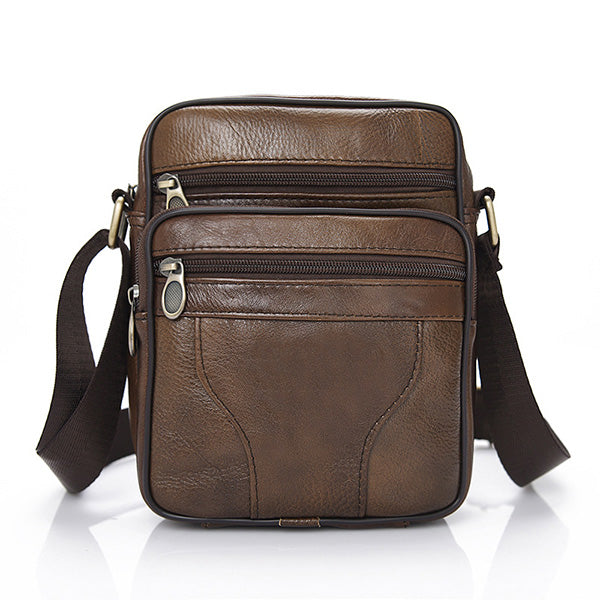 Mens Casual Solid Color Crossbody Bag Shoulder Bags