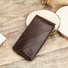 Load image into Gallery viewer, Men Genuine Leather RFID Blocking Card Holder Wallet