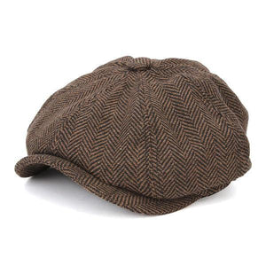 Men Visor Woolen Blending Newsboy Beret Caps