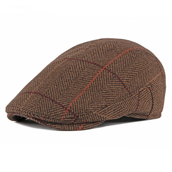 Men Sunshade Outdoors Peaked Forward Cap Ear Flaps Warm Cap