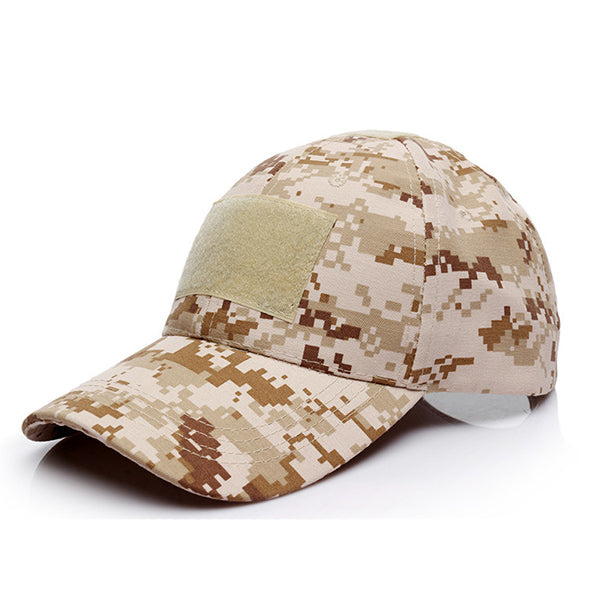 Mens Military Tactical Badge Hat Camouflage Camping Baseball Caps