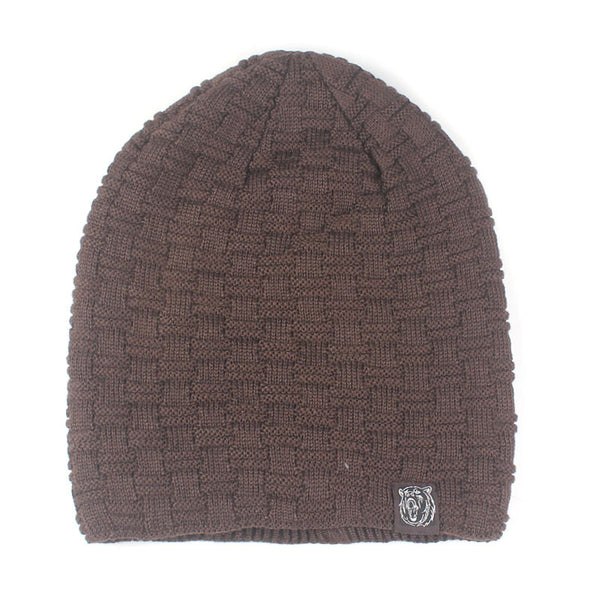 Men Winter Knitted Wool Cap Outdoor Casual Beanie
