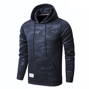 Mens Camouflage Long Sleeve Fashion Sports Hoodies