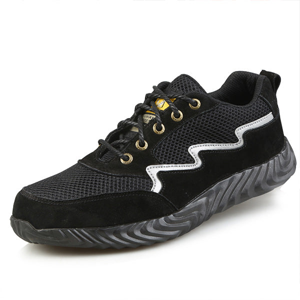 Mesh Lace Up Steel Toe Safety Work Shoes Athletic Shoes