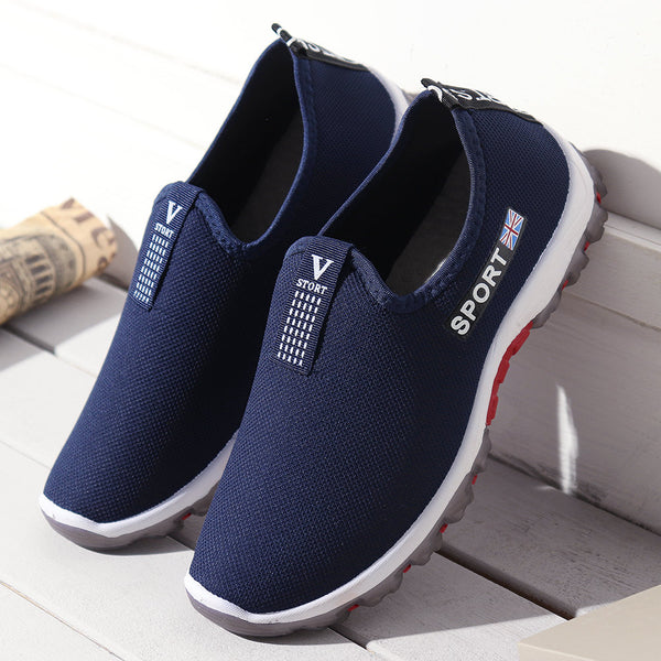 Mens Breathable Outdoor Hiking Slip On Casual Sneakers
