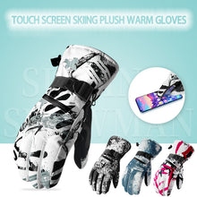 Load image into Gallery viewer, Touch Screen  Outdoor Water Proof Skiing Plush Warm Gloves