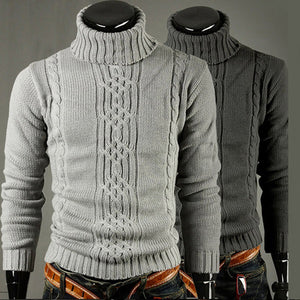 Winter Men's Turtleneck Pullover Sweater Knit Thicken Sweaters