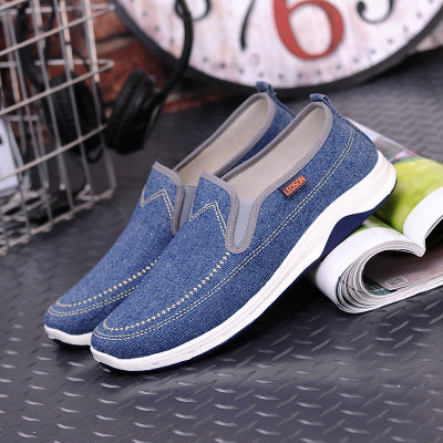 Mens Casual Slip-on Canvas Flat Shoes Breathable Loafers