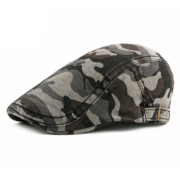 Men Camouflage Outdoor Sunshade Beret Cap Casual Hats