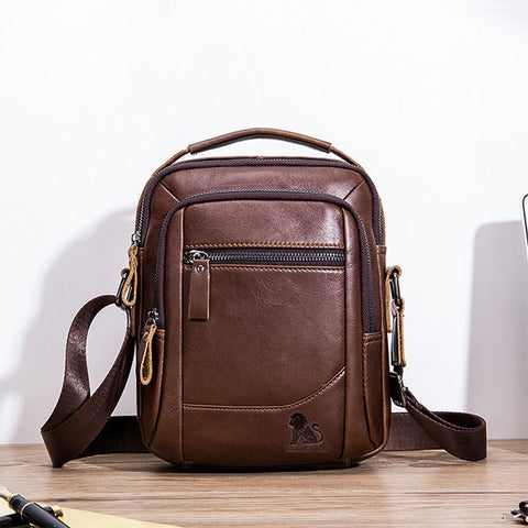Mens Fashion Genuine Leather Shoulder Bag Crossbody Bags