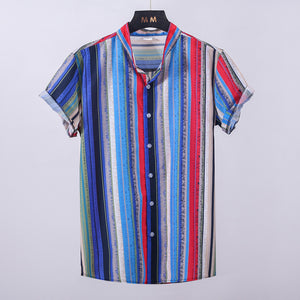 Fashion Short-Sleeved Printed Shirt