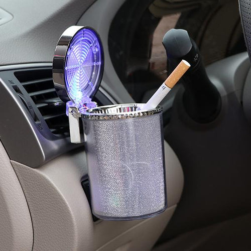 Led Car Creative Colorful Ashtray