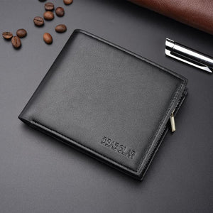 Men's Fashion Multi-Card Zip Wallet