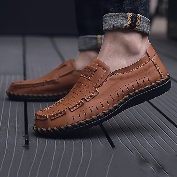 Mens Hollow Out Fashion Breathable Loafers