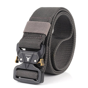Mens Solid Color Nylon Buckle Tactical Waist Belts