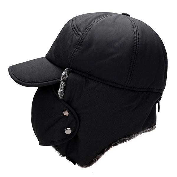 Outdoor Mens Thickened Ear Flaps Mask Warm Cap