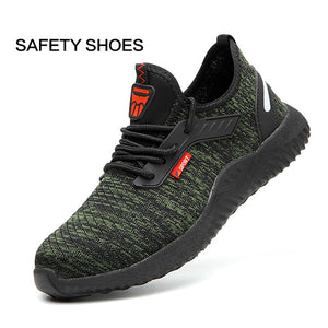 Mens Fashion Running Sneakers Safety Work Shoes