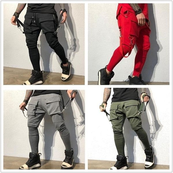 Men's New Hip Hop Large Pockets Casual Cargo Pants