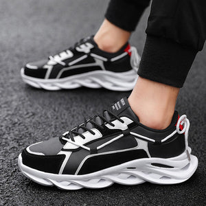 Fashion Color Block Lace-up Running Shoes Outdoor Sports Athletic Shoes